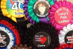Personalised Rosettes - customised for your party